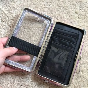 Sparkly Purple Wallet and Phone Case